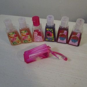 Lot of 6 B&BW hand sanitizers with a carry fob
